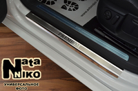 Накладки порогов Premium Natanika для Alfa Romeo 147 2000- (3 двери) P-AR01 (2 шт.)